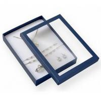 China Premium Jewelry Paper Boxes Big Set Transparent Window For Necklace Packaging on sale
