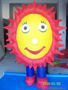 China Festivals Decorative Inflatable Flowers Fireproof Customized High Tension on sale