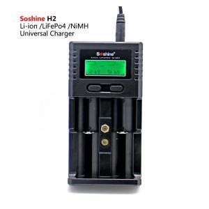 China Soshine H2 LCD Universal Charger for Liion/LiFePO4 26650 18650 9V NiMH C AA AAA 9V battery on sale