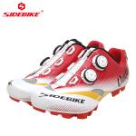 Men Mountain Cycling Shoes / MTB Bike Shoes SPD Mountain Bike Shoes With Atop