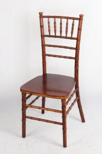China Antique Solid Wood Chiavari Chair , Glossy Burgundy Banquet / Dining Chairs on sale