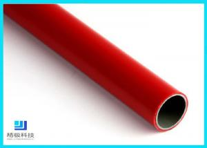 China Q235 Steel Pipe PE/ABS Coated Lean Tube OD 28mm For Production Line on sale