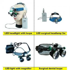 China LED headlight with magnifier surgical dental loupes on sale