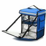 Aluminium foil thermal insulation pizza bag cooler backpack