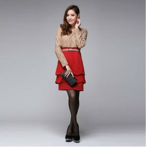 6e3be772f24b9 ... Quality Autumn Long Sleeve Combo Fashion Lace Lrregular Office Wear  Dresses For Career for sale ...