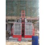 Elevaciones de la construcción de la jaula/velocidad gemelas del elevador del alzamiento para construir