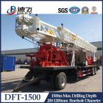 China 1500m Depth DFT-1500 Truck Mounted Water Well Drilling Rigs for Hard Rock with Mud Pump wholesale