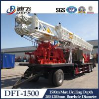 1500m Depth DFT-1500 Truck Mounted Water Well Drilling Rigs for Hard Rock with Mud Pump