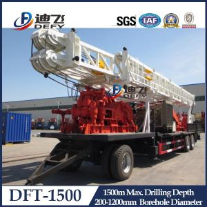 China China supplier 1000m 1500m depth tractor mounted water well drill rig DFT-1500 on sale