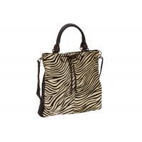 Black and White Zebra Print bags , Large Genuine Leather Tote Bag
