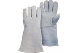 China Cowhide Leather Keystone Thumb Driver Glove ZM 101-J on sale