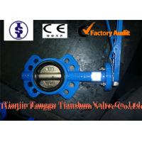 Automated Cast Iron Industrial Butterfly Valve Wafer Type With Carbon Steel Disc