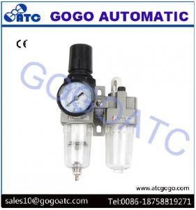 China 1/8 Inch Manual Drain SMC Air Regulator Filter Lubricator For Air Source Treatment on sale