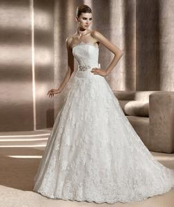 China 2013 New Custom Made White/Ivory Lace Wedding Dress Bridal Gown on sale