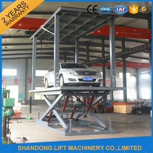 China Car Lift Ramps Double Deck Car Parking System with Electricity Leakage Protection Device on sale