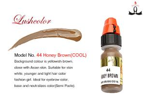 China Honey Brown Eco Natural Semi Cream Permanent Makeup Pigment for Eyebrow Tattoo on sale