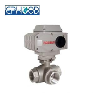 China 1000psi  Electric Actuated Ball Valve 3 Way With Anti - Blow Out Stem on sale