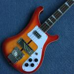 Top quality Rick 4003 model Ricken 4 strings Electric Bass guitar in Purple color, Chrome hardware