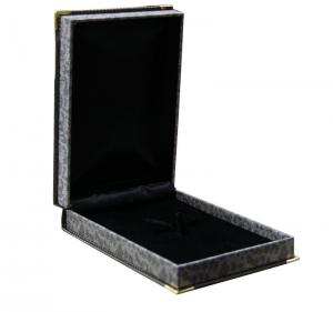 China Ornament Paper Keepsake Gift Boxes Of Barcelet With Black Frame And Metal Corner on sale