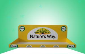 China Glossy Yellow Cardboard Trays/ PDQ Display Promoting Medicine & Healthcare Products with Light Weight Design on sale