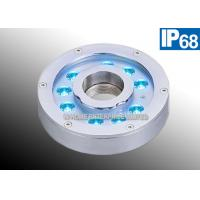 China IP68 9W Red LED Underwater Founatin Light 12V DC 316 Stainless Steel For Park , Square on sale