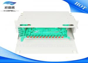 China LC FTTH Optical Termination Panel , 12 24 48 96 Port ODF Fiber Optic Termination Box on sale