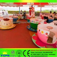 HENAN TOPS Amusement Park coffee cup rides\ tea cup rides for sale