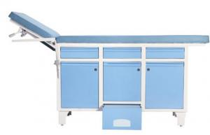 China Easy Operation Medical Examination Table With Drawers Cabinet And Step Stool on sale