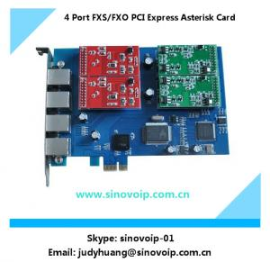 China 4 Port fxs/fxo PCI Express Asterisk Card on sale