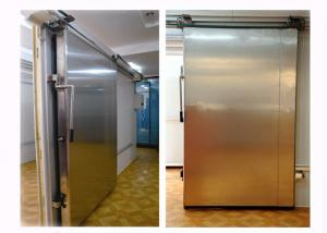 China 75mm 100mm 120mm 150mm 200mm Cold Storage Doors Silding Design Chemical Resistance Stability on sale