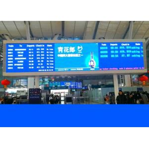 China Led railway signs and train station displays with crystal clear Led boards on sale