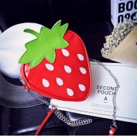 Japan and South Korea cartoon cute transparent strawberry summer fruit watermelon lemon shoulder bag Messenger bag