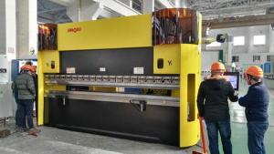 China Double Bend CNC Sheet Press Brake Machine Servo Pump Drive 4000M Length on sale