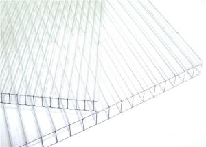 China 8mm Clear Twinwall Polycarbonate Roofing Sheet  High Light Transmission on sale