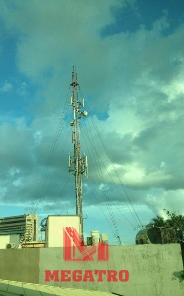 Roof top guyed telecom mast for sale – telecommunication