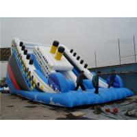 China Outside Titanic Inflatable Water Slide For Pool Customized Size Eco Friendly on sale