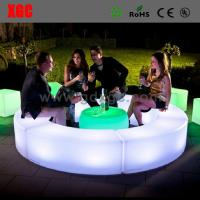 Iiluminated Remote Controll LED Table And Chairs For Restaurants , Eco Frienldy