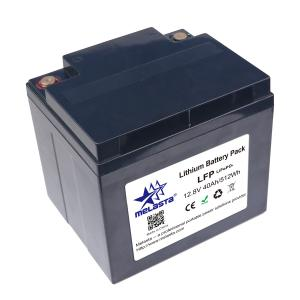 China LiFePo4 rechargeable battery pack 12.8V 40Ah replacement of lead acid battery on sale