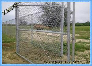 China Heavy Duty Hot Dipped Galvanized Chain Link Fence Fabric 9 Gauge 1.2m X 30m Size on sale