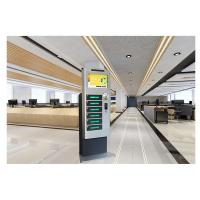"""Free Standing Coin Operated Cell Phone Charging Kiosk With 19"""" Touch Screen"""