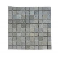 Cheap Price Polished Grey Wooden-vein Mosaic Tiles For interior Wall Export By Factory