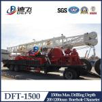 China 1000m 1500m trailer mounted hydraulic water well drilling rig with competitive price wholesale