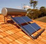 трубки 240Л 24 компактируют нагреватель воды трубы жары надутый максимумом солнечный для крыши наклона