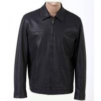 China Trendy Size 54 XXXL Western Black Fitted Mens Lightweight PU Leather Jackets on sale
