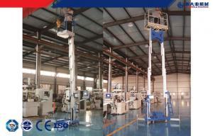 China Self-propelled aerial work platform , Mobile elevating work platform safety single / double mast on sale