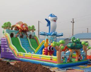 China Widely used commercial cheap popular chameleon design inflatable bouncers for sale on sale