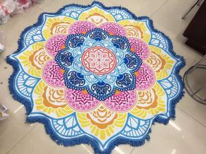 China Custom print Multi-purpose adults or kids round beach towels wholesale on sale