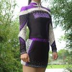 Quick Dry Purple All Star Cheer Uniforms With Customized Patterns
