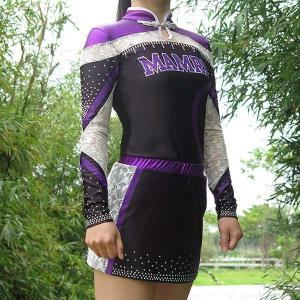 China Quick Dry Purple All Star Cheer Uniforms With Customized Patterns on sale