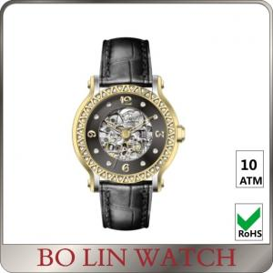China Beautiful Elegant Ladies / Mens Diamond Watches , Customised Automatic Mechanical Watch on sale